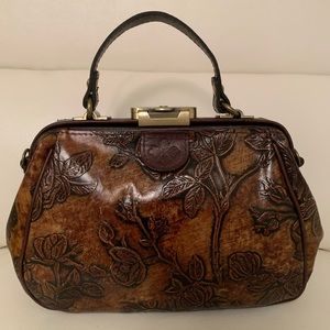 Patricia Nash Gracchi Embossed Leather Satchel